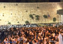 Thousand were at Wailing Wall through the night