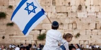 boy with israeli flag