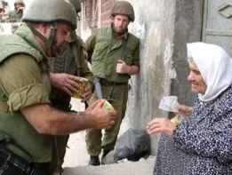 idf helping palestinian woman