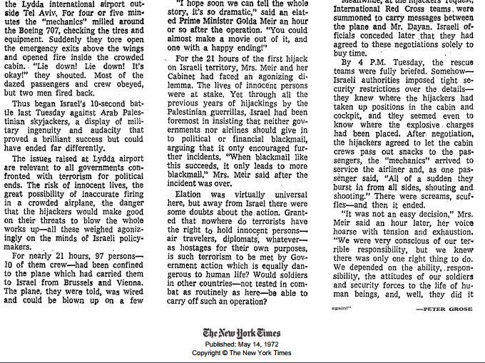 ny times archive hijack 1972 2