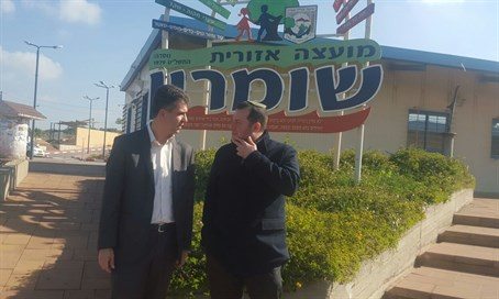 Mk Eli Cohen and Samaria Council Head Yossi Dagan