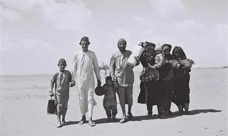 Yemenite Jews flee their homes