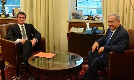 Netanyahu and Valls meet in Jerusalem