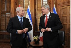 Netanyahu and Harper in Ottaw
