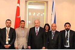 Netanyahu meets Turkish journalists