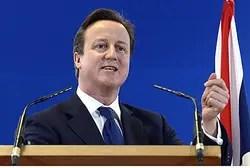 Primer ministro británico David Cameron