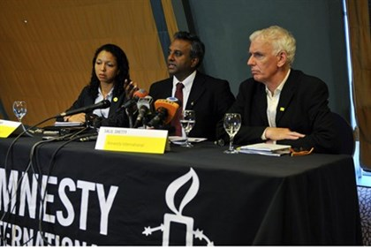 Amnistía Internacional funcionarios (archivo)