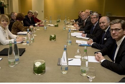 Foreign ministers during nuclear talks with Iran in Geneva