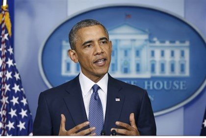 EE.UU. El presidente Barack Obama hace una declaración en la Casa Blanca