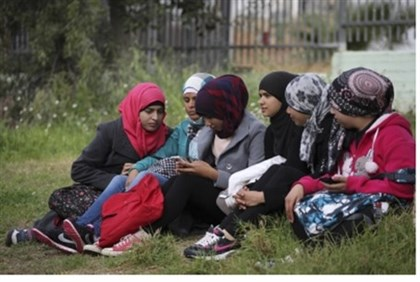 Young Bedouin women.