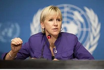 El ministro de Exteriores sueco, Margot Wallstroem