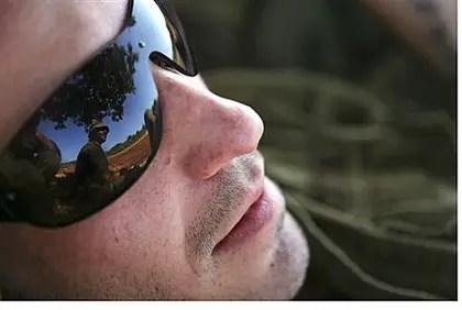 IDF soldier in sunglasses (illustration)