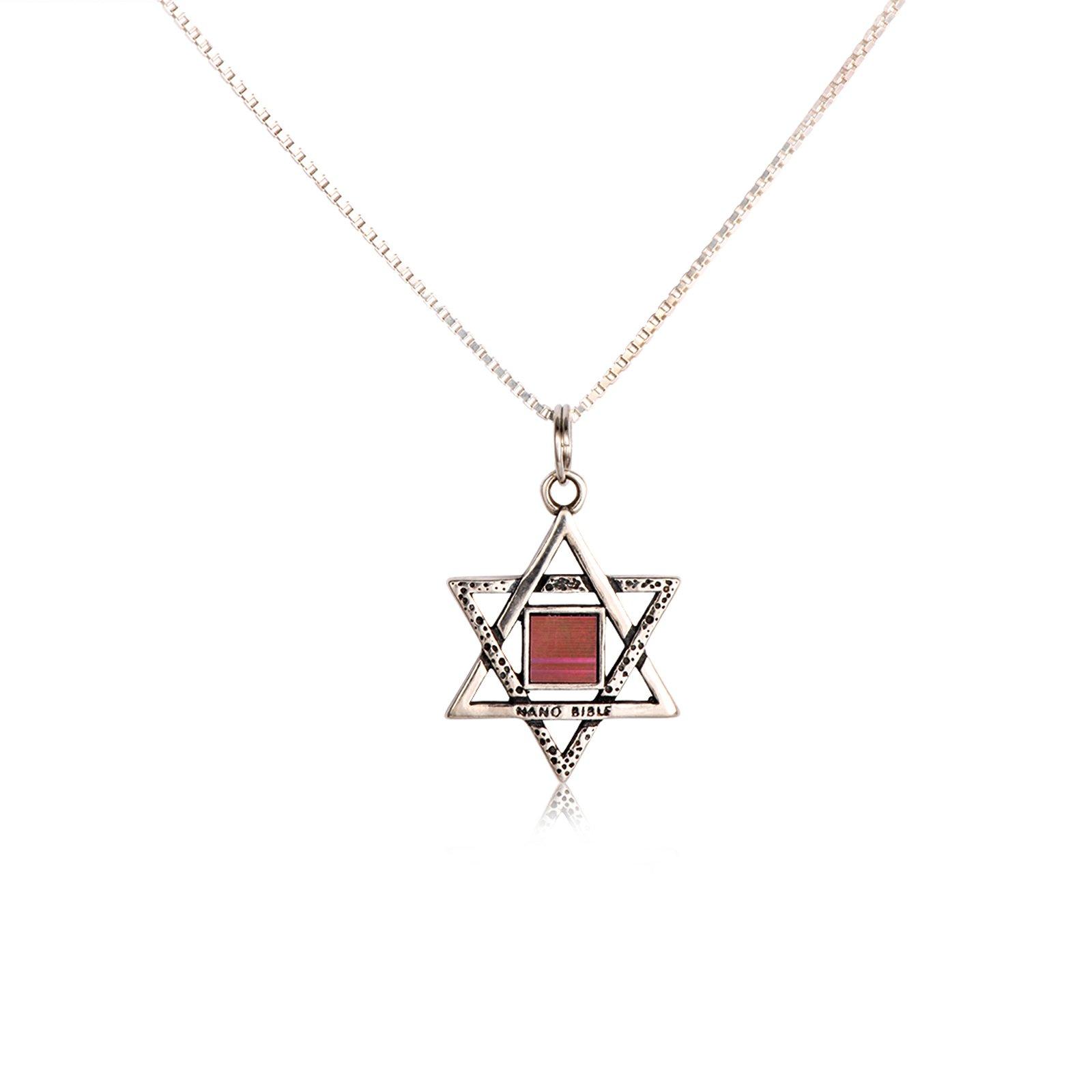 Star Of David Pendant Mini Bible