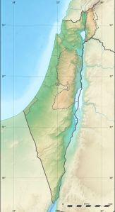 Топографическая карта Израиля. Фото: Wikipedia / Eric Gaba
