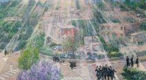В работе Виктора Бриндача небесный свет струится над Кфар-Шаулем, освещая место, побеждающее недуг...