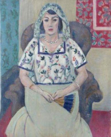 Анри Матисс, «Сидящая женщина» («Женщина с веером»)