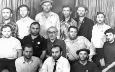 Грузинские евреи во время голодовки в здании Центрального телеграфа, Москва, 1971 г.