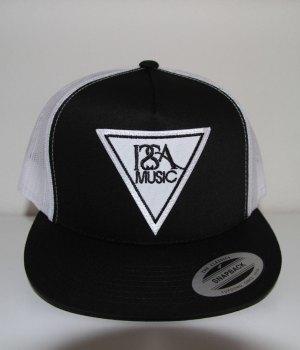 Black-White-Back-White-Patch-Hat