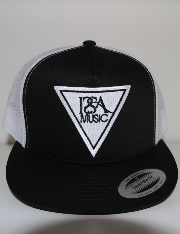 Black-White-Back-White-Patch-Hat