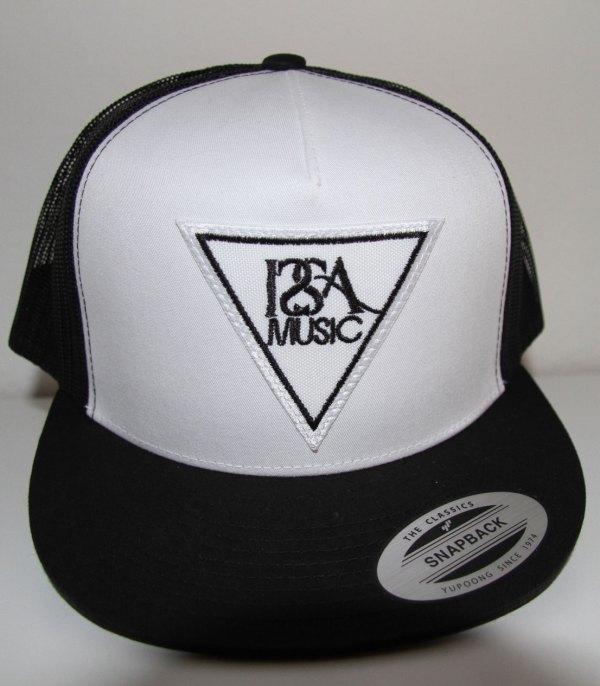 White Black Back White Patch Hat