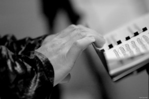 Issie Barratt conducting hands