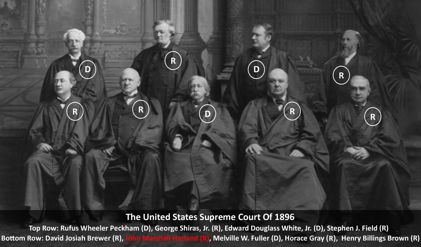 The 1896-1897 U.S. Supreme Court Justices