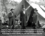 Abraham Lincoln on the Antietam Battlefield