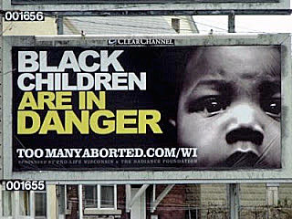 The Black Children Are In Danger Billboard