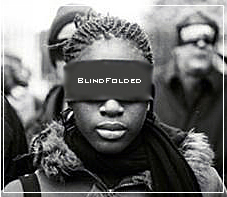 Black Woman Blindfolded