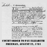 Court Order To Free Elizabeth Freeman