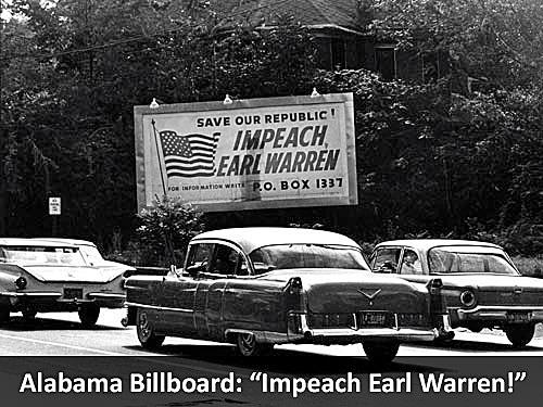 Alabama Billboard: Impeach Earl Warren!