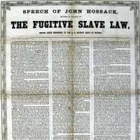 John Hossack Speech on the Fugitive Slave Law