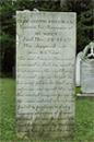 Elizabeth Freeman's (Mum Bett) Tombstone