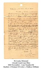 Rachel v. Walker Papers