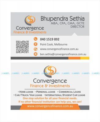 Business Card - Convergence Finance