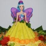 Pesan tumpeng karakter barbie