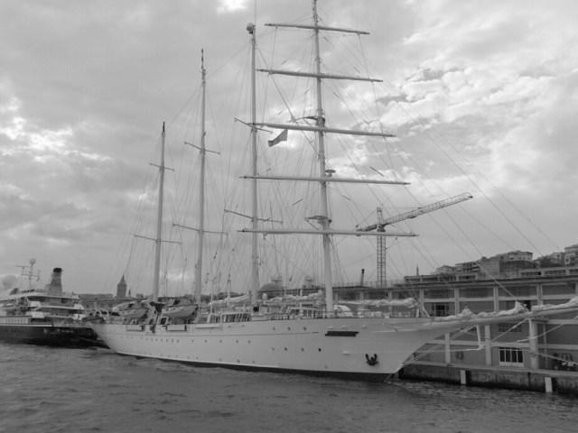 Hafen Istanbul Schwarz Weiss