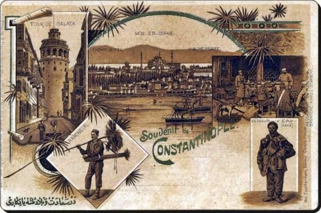 Constantinople Postkarte