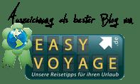 Ausgezeichnet als bester Blog in EasyVoyage.de