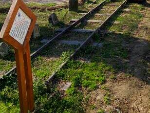 Gleise der Bahn