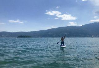 Sup - Padel sup - istanti in viaggio - sport lago maggiore -