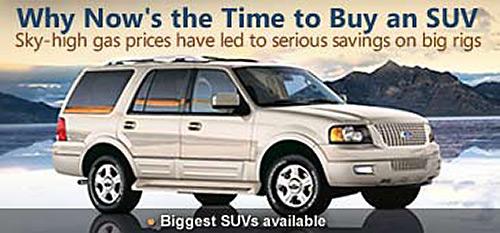 MSN SUV ad