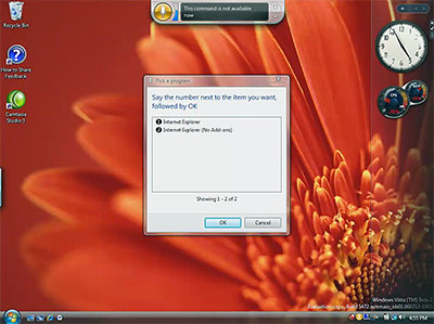 Windows Vista speech recognition demo