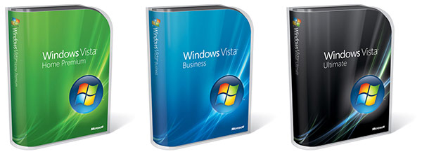 Packaging for Windows Vista Home, Business and Ultimate