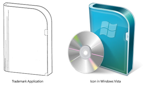 Microsoft Vista packaging trademark