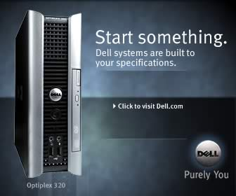 "Dell banner ad ""start something"""