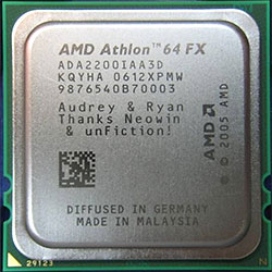 AMD engraved chip