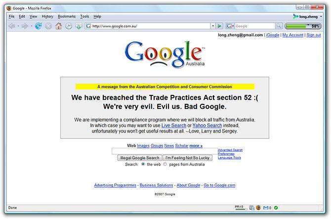 Google breaches Trade Practices Act in Australia
