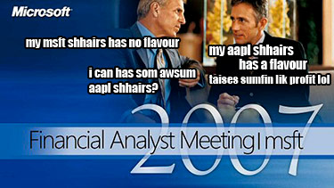 Microsoft Financial Analyst Meeting LOLCat