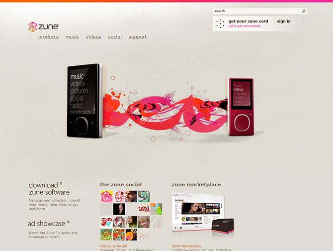 Zune.net website v2